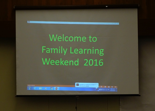 Family Learning Weekend, 2016